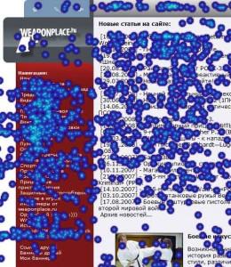Stat24.ru - карта кликов