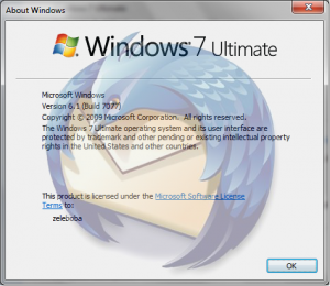Windows 7 + thunderbird