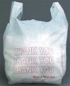 полиэтиленовый пакет из супермаркета